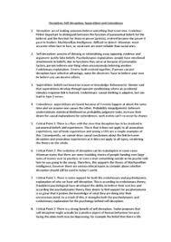 deception self deception superstition and coincidence essay plan page 1