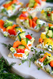 Light Summer Appetizer Ideas Veggie Crescent Bites
