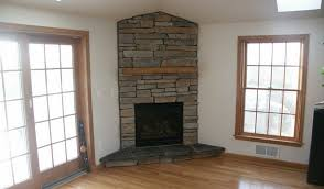 stone corner fireplace ideas