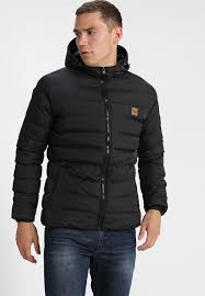 basic bubble jacket winter jacket black
