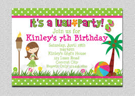 a birthday invitation 20 luau birthday invitations designs birthday party invitations