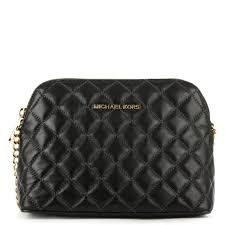 Michael Kors Cindy Quilted Black Leather Dome Cross-Body Bag &  Adamdwight.com