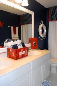 Dark Red Bathroom Boys Bathroom With A Nautical Theme Boys Magnolias And Nautical