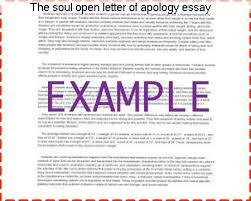 the soul open letter of apology essay college paper service the soul open letter of apology essay