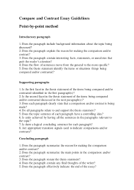 Compare And Contrast Essay Guidelines