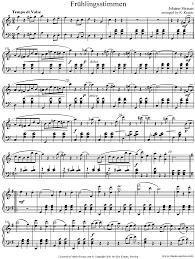 chopin spring waltz sheet music op 410 fruhlingsstimmen piano cma sheet music by johann jr strauss