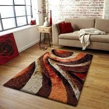 modern orange rug design brown orange polyester modern hand tufted area rug mid century modern rug orange