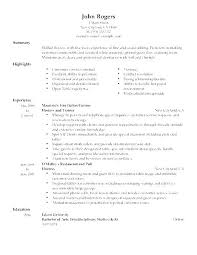 Food Server Resume Objective Fascinating Resume Objective Examples For A Server Packed With Server Resume