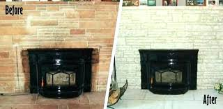 painted brick fireplace before and after painted brick fireplace before and after paint brick fireplace before