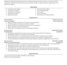 Sample Resume For Security Guard Sample Resume For Security Officer Sample Resume For Security Guard