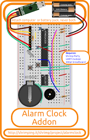 wiring the alarm clock this guide provides details for learners to wire program and configure their first shrimpingit arduino compatible digital clock project
