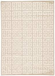 greek key flat wool rug gray urban