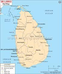 Sri Lanka Rail Network Map Sri Lanka Map Sri Lanka State