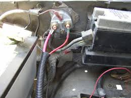 x battery cables ford explorer and ford ranger forums a close up pic of the fender relay all wired up the left side wire is coming from the battery while the right side wire is going to the starter