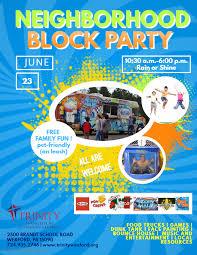 Block Party Flyer Neighborhood Block Party Pinecreek Journal