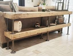 shelving furniture living room. DIY Shelving Made Of Rustic Wood Boards And Pipes Is A Simple Solution To Add Some Furniture Living Room