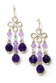 05 14 125 purple quartz crystal chandelier earrings