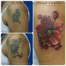 перекрытие татуировок в салоне анатомия тату