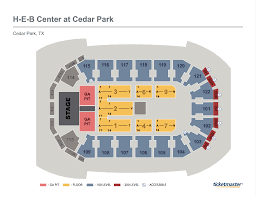 Cedar Park Center Seating Chart Heb Center Seating Chart
