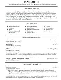 Amazing Accounting Finance Resume Examples Create My Cv Template