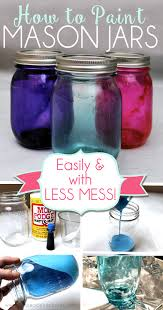 How To Decorate Mason Jars Beauteous How To Paint Mason Jars Easily With Less Mess