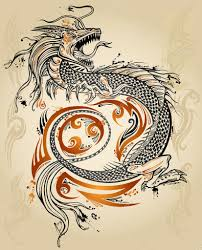 тату гранж дракон Doodle эскиз татуировки значок племенных гранж