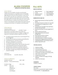 Administrative Assistant Resume Templates 2017 Best Of Executive Assistant Resume Template Office Administration Curriculum