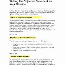 Resume Objective Statement Valid Awesome Example Resume Objective