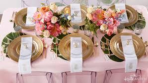 wedding reception table settings. Pineapples And Palms Reception Table   Tropical Wedding Inspiration Kate Aspen Settings