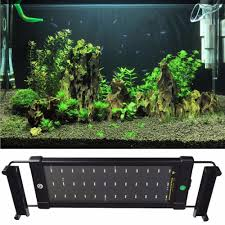 36 Aquarium Light 36 Leds 6w Aquarium Light 28cm 48cm Extendable Bracket Fish Tank Led Lighting Lamp White Blue 2 Modes Eu Us Uk Power Plug