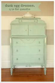 Dresser painted in Annie Sloan Duck Egg chalk paint by q is for quandie.