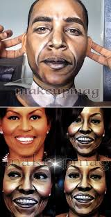 6the makeup artist who turned herself into president and mice obama