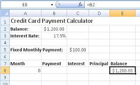 Cc Payoff Calculator Credit Card Monthly Payment Calculator Excel Hashtag Bg