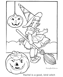 Small Picture Witch Halloween coloring page 014