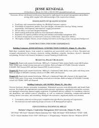 Contractor Resume Template Independent Contractor Resume Templates Best Of General Contractor 8