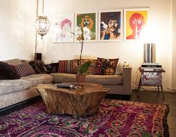 bohemian style living room. Perfect Room Bohemian Style Living Room Artistic On B