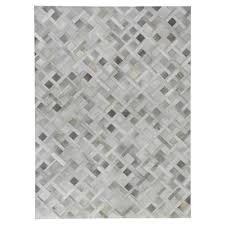 exquisite rugs natural hide modern classic geometric pattern beige grey rug 5 x 8