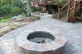 flagstone patio with fire pit. Beautiful Stone Patio With Fire Pit Frisella Nursery Flagstone