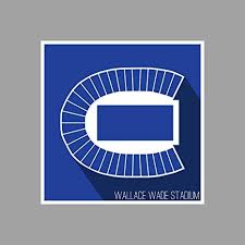 Duke University Football Stadium Seating Chart Amazon Com Artsycanvas Duke Blue Wallace Wade Stadium