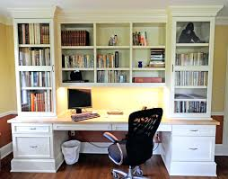 furniture large white wooden bookshelf with white wooden drawers and desk combined by black empty bookshelf