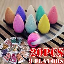 hot  <b>Colorful Floral Incense Cone</b> Sandalwood Fragrance Tower ...
