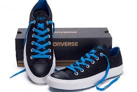 converse shoes black and blue. xghv90737 2017 new converse chuck taylor all star low black blue laces shoes and