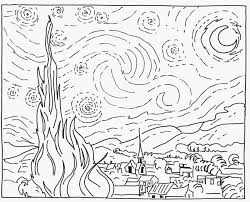 Van Gogh Coloring Pages Printable Free Coloring Books
