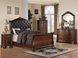 Sleigh Bedroom Set Inspirational Maddison Queen Sleigh Bedroom Set With  Upholstered Headboard In Warm Brown Cherry Q