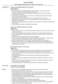 Engineering Project Manager Resume Samples | Velvet Jobs