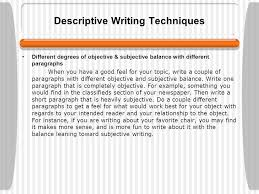 learning about paragraphs ppt video online  descriptive writing techniques