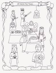 Feast Of All Saints Coloring Pagesll L