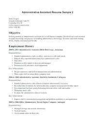 Career Objective Examples For Resume Interesting Objective Resume Examples Entry Level Administrative Assistant