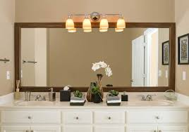 Bahtroom Charming Bathroom Mirror Frames Improving Alluring