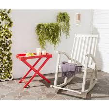 whitewash outdoor furniture. Safavieh Clayton White Washed Wood Outdoor Rocking Chair Whitewash Outdoor Furniture